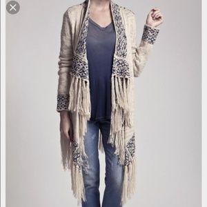 Blu Pepper Knit Fringe Sweater